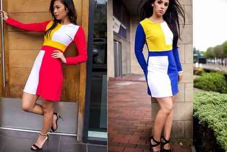 elegance4less - Colour block dress in two colours - Save 0%