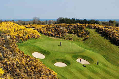 Druids Glen Hotel and Golf Resort - 18 holes of golf, range balls and lunch for two - Save 51%