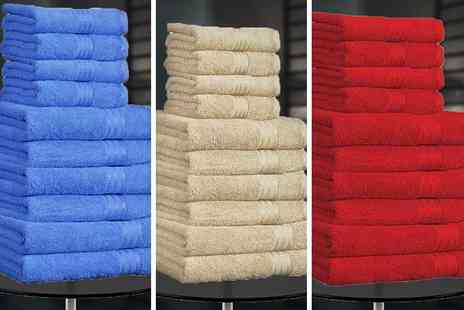 Anb Global - 10pc Egyptian cotton bath towel set - Save 73%
