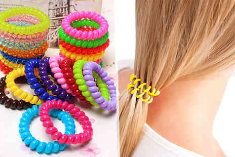 Fakurma - 20 anti snag hair bobbles choose from black or multi coloured - Save 88%