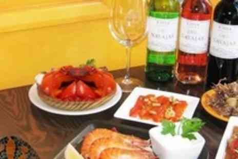 Barcelona Tapas Bar and Restaurant - Six Tapas Dishes For Two People Plus Glass of Wine Each - Save 61%