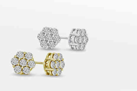 Fakurma - 18ct gold plated cluster earrings - Save 92%
