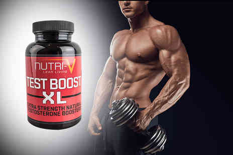 Nutri V - One month supply of XL Testosterone Booster capsules - Save 77%