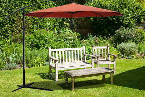 Ckent - Large terra cotta banana parasol & stand - Save 52%