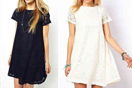 Boni Caro - Lala lace capped sleeve dress - Save 75%