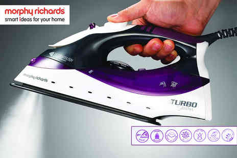 Qualtex UK - Morphy Richards Turbosteam iron, with a limited number available - Save 72%