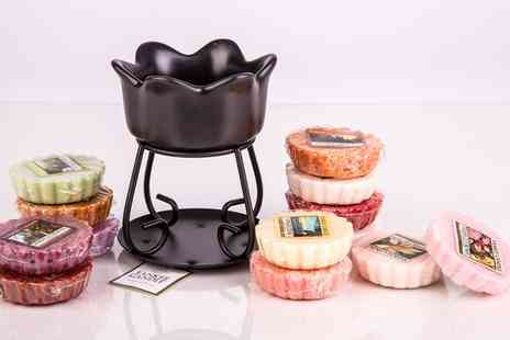 Groupon Goods Global GmbH - Yankee Candle Petal Bowl Burner with 6 or 12 Wax Melts - Save 62%