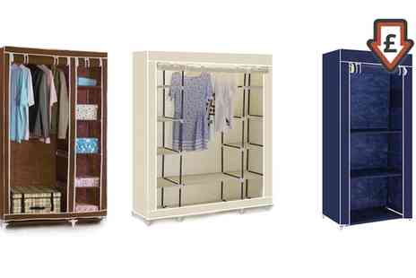 Groupon Goods Global GmbH - Canvas Wardrobe Single, Double or Triple in Choice of Colour - Save 0%