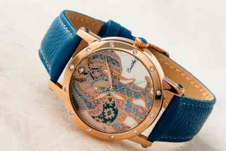 Groupon Goods Global GmbH - Bertha Betsy Womens Leather Band Watch With Free Delivery - Save 90%