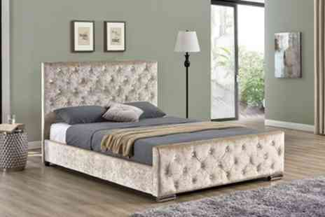 Groupon Goods Global GmbH - Beaumont Bed Frame with an Option to Include Orthopaedic Mattress - Save 40%