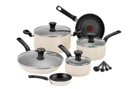 Groupon Goods Global GmbH - Tefal Excite 7 Piece Almond Set With Free Delivery - Save 38%