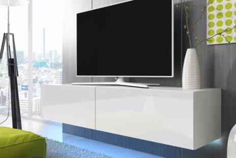 Groupon Goods Global GmbH - Lana Led Tv Cabinet in Choice of Colour and Size With Free Delivery - Save 55%