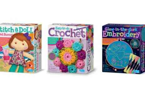 Groupon Goods Global GmbH - Three Sewing and Crochet Craft Kits - Save 34%