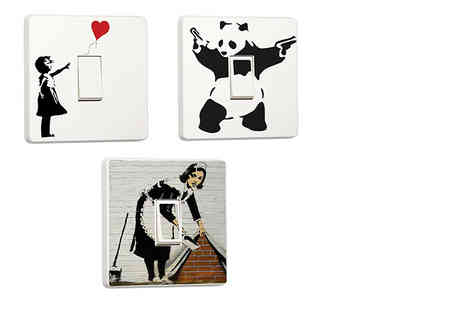 Deco Matters - Two Banksy light switch stickers - Save 90%