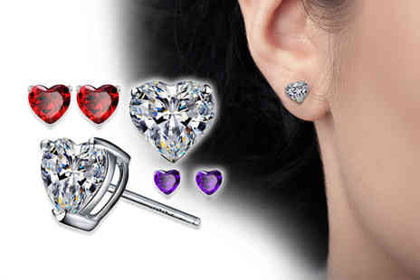 Solo Act - Three pairs of heart earrings - Save 76%