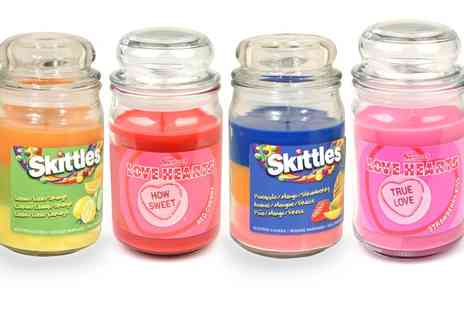 Groupon Goods Global GmbH - Skittles, Chupa Chups or Love Hearts Large Jar Candles - Save 65%
