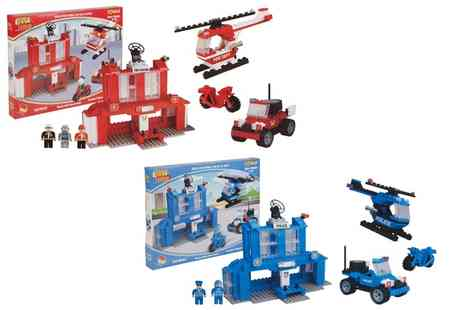 Groupon Goods Global GmbH - Best Lock 300 Piece Fireman or Police Brick Set - Save 0%