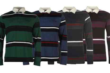 Groupon Goods Global GmbH - Pierre Cardin Mens Long Sleeve Rugby Polo Shirt - Save 0%