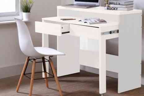 Groupon Goods Global GmbH - Two Drawer Extendable Console or Desk With Free Delivery - Save 0%