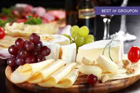 The Corner Cupboard - Sharing Platter with Wine for Two or Four - Save 0%