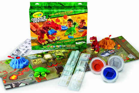 Ckent - Crayola create 2 destroy dino destruction set - Save 69%