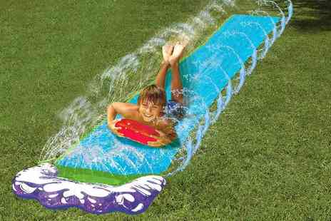 Home Store Direct - A 16 foot long inflatable slider with vertical sprinkler - Save 70%