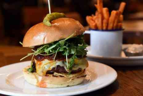 Blue at the George - Burger and Drink for Two - Save 56%