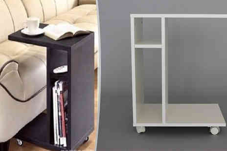 Home Decor Online - Wheeled Sofa Side Table Choose from 3 Colours - Save 60%