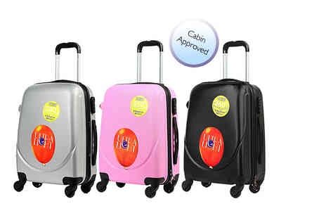 Kequ World - Hard shell four wheeled suitcase choose from six colours - Save 78%