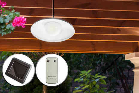 SHS Trading - Four LED solar powered outdoor spotlight - Save 61%
