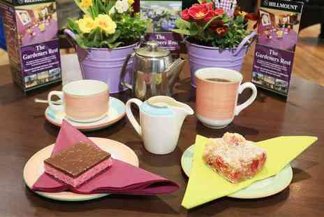Hillmount Garden Centre - Cup of tea or filter coffee for two plus a tray bake each - Save 74%