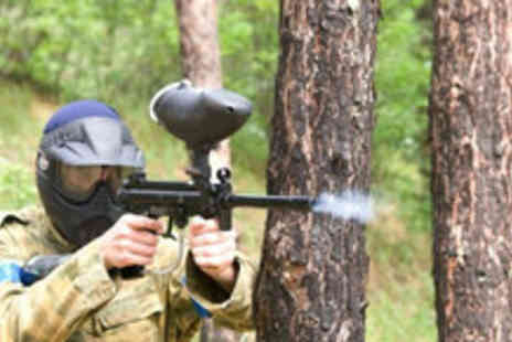 Frontline Paintball - Day of paintballing for up to 5 with 100 paintballs each - Save 91%