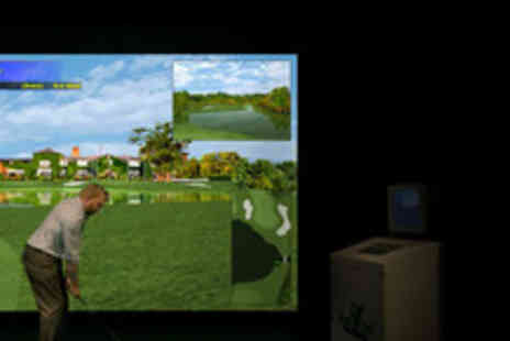 Riverbank Golf - 2 Hour indoor golf simulator & beer each for up to 4 people - Save 56%
