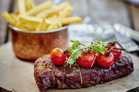 Marco Pierre White Steakhouse Bar & Grill - Two course dining for two with a bottle of wine - Save 26%