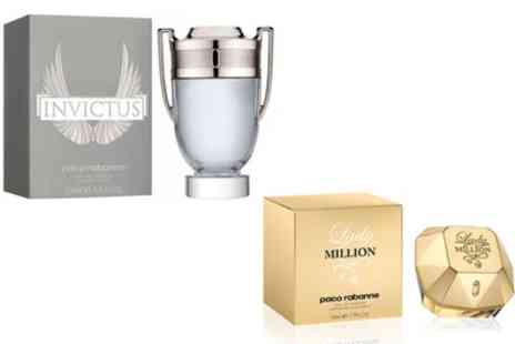Groupon Goods Global GmbH - Paco Rabanne Lady Million EDP 30ml or Invictus EDT 100ml - Save 17%