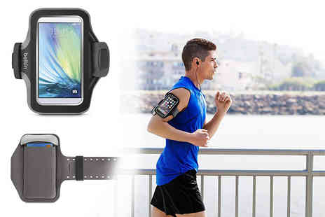 Pacetech - Belkin Slim Fit fitness armband for Samsung Galaxy S6 and S6 Edge - Save 80%