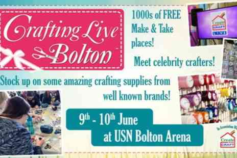 Crafting Live - Two tickets to Crafting Live on one or both days on 9 To 10 June - Save 40%