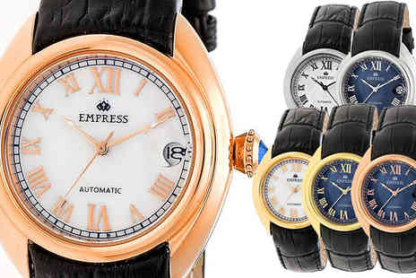 Ideal Deal - Empress Antoinette Mother of Pearl Automatic Watch Available in 6 Colours - Save 88%