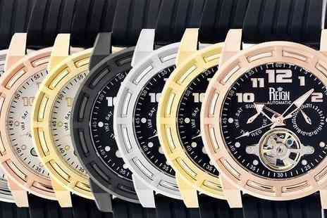 Ideal Deal - Reign Rothschild Semi Skeleton Automatic Watch Available in 7 Designs - Save 90%