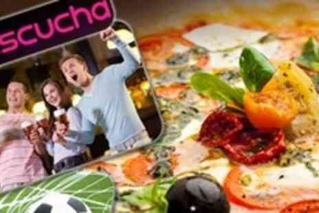 Escucha - Pizza and Drinks on International Football Tournament Dates - Save 59%