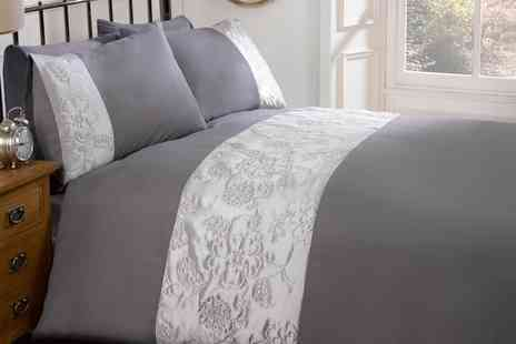 Groupon Goods Global GmbH - Rapport Home Embroidered Duvet Cover Set in Choice of Size and Design - Save 63%