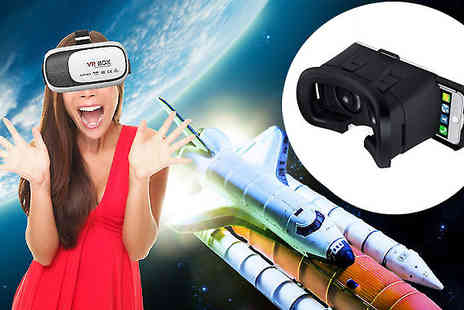 Boom Deals - 3D Virtual Reality Headset for iPhone & Android Smartphone Compatible - Save 91%