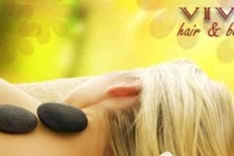 Viva Hair and Beauty - 90 Minute Full Body Hot Stone or Thai Massage - Save 64%