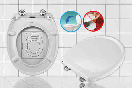 IT Ideas - Easy clean, quick release and auto lowering toilet seat - Save 70%
