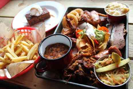 Bubba Q - American themed afternoon tea with a pint of beer or glass of wine or Prosecco - Save 58%