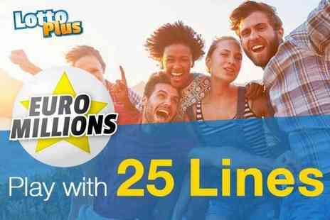 Lotto Plus - Play with 25 lines in one draw with one share in the EuroMillions Syndicate - Save 68%