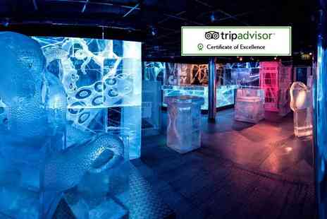 ICEBAR - Bar entry and drink and a three course meal with Aperitif cocktail - Save 36%