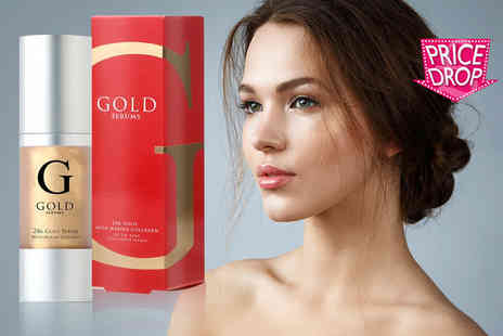 Gold Serums - 24K gold marine anti ageing collagen face serum - Save 87%