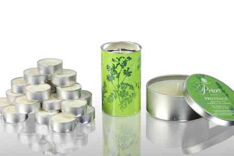 Groupon Goods Global GmbH - Prices Garden Candles Sets with Tins, Lanterns and Tea Lights - Save 50%