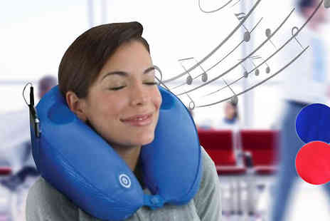 Fakurma - Music Massage Travel Pillow Available in 2 Colours - Save 77%
